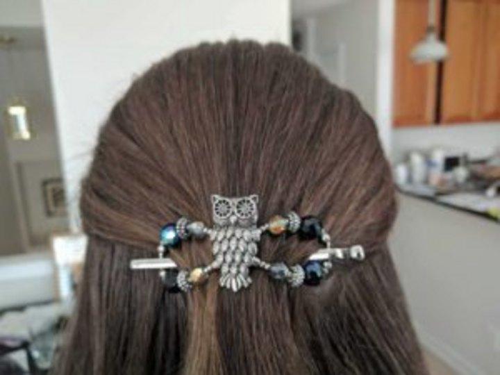 owl hair clip