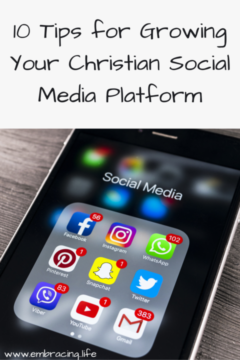 Tips to Help You Grow a Social Media Platform as a Christian Writer