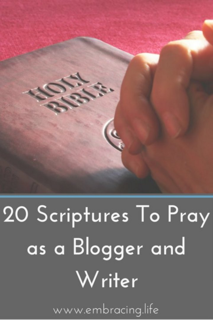 20 Scriptures To Pray As a Christian Blogger and Writer