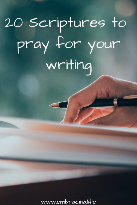 20 Scriptures to pray for your writing