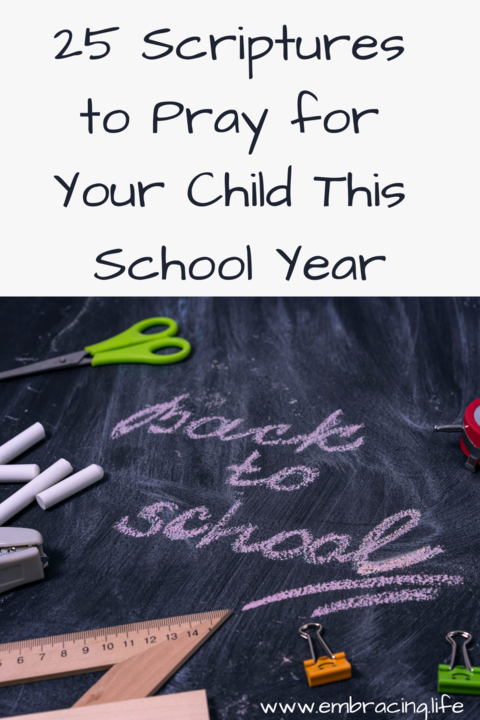Scriptures to Pray for Your Child This School Year