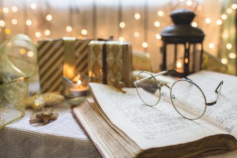 Bible at Christmas time