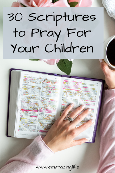 30 Scriptures to Pray For Your Children