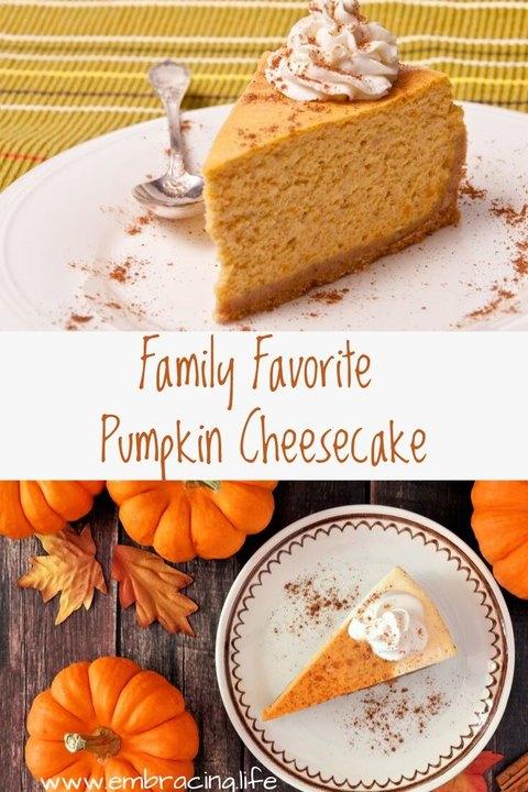 Family Favorite Pumpkin cheesecake recipe