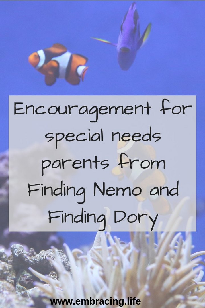 Encouragement for Special Needs Parents From Finding Nemo and Finding Dory