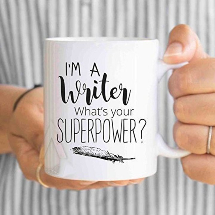 Coffee mug for writers: let everyone know in a fun and inspirational way that you're a #writer