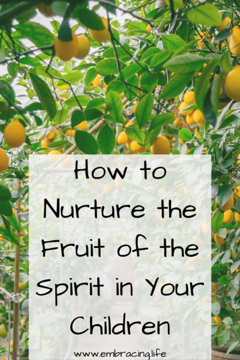How to Nurture the Fruit of the Spirit in your Children