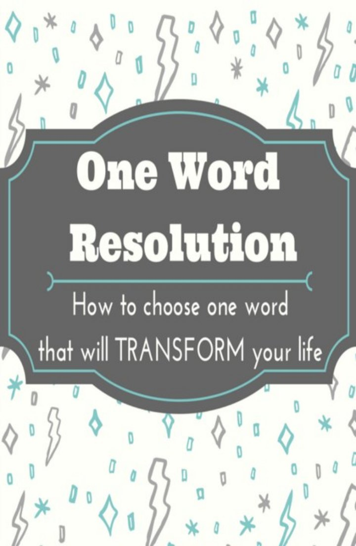 How to Choose Your One Word Resolution for the Year