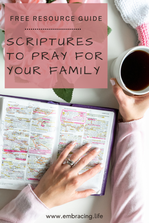 Resource Guide to Help You Pray Scripture for Your Family