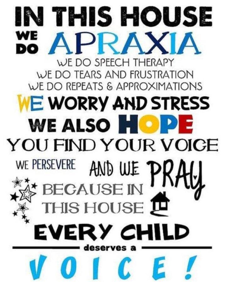 encouragement for parents of apraxia