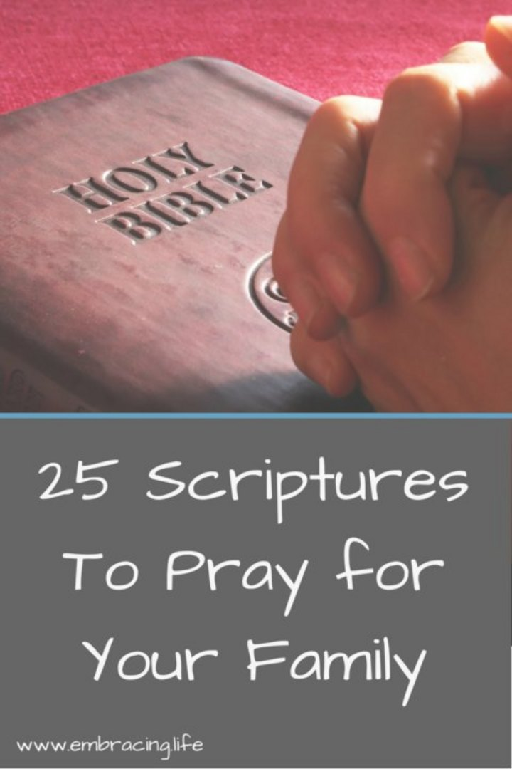 25 Scriptures to Pray For Your Family